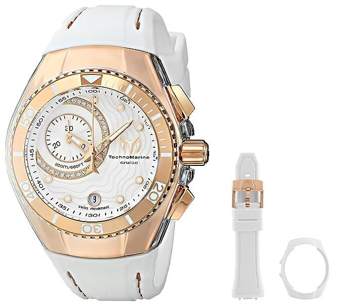 Technomarine Mujer 114042 Cruise reloj Analogico Suizo cuarzo blanco- reloj de pulsera: Amazon.es: Relojes