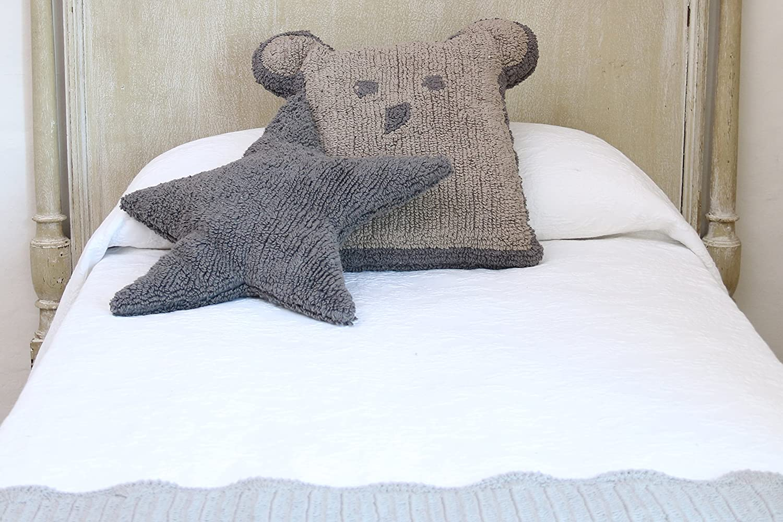 color gris oscuro Coj/ín dise/ño de oso