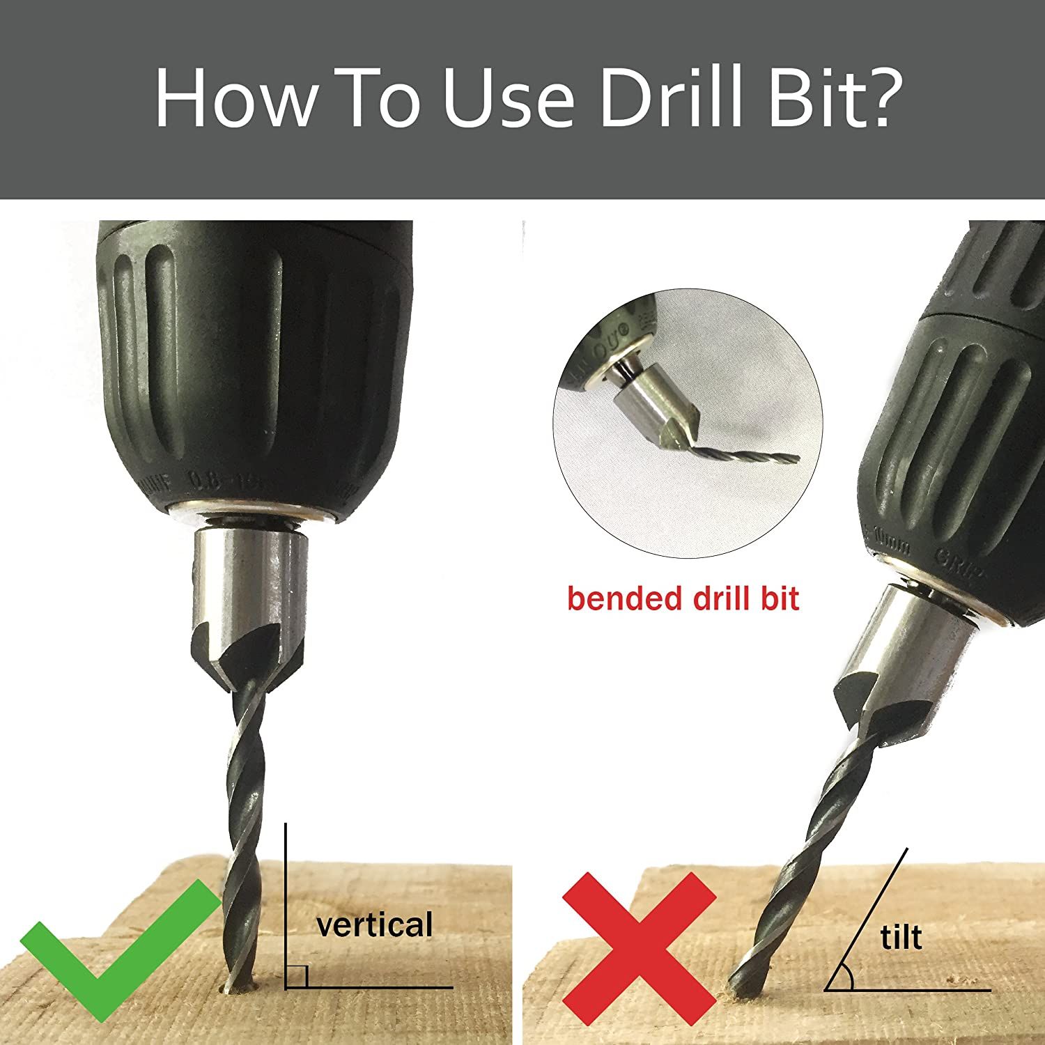 DRILLPRO Woodworking Chamfer High-Speed Steel Countersink Drill Bits Set With One Free Hex Key Perfect 7Pcs Woodworking Countersink Drill Bits