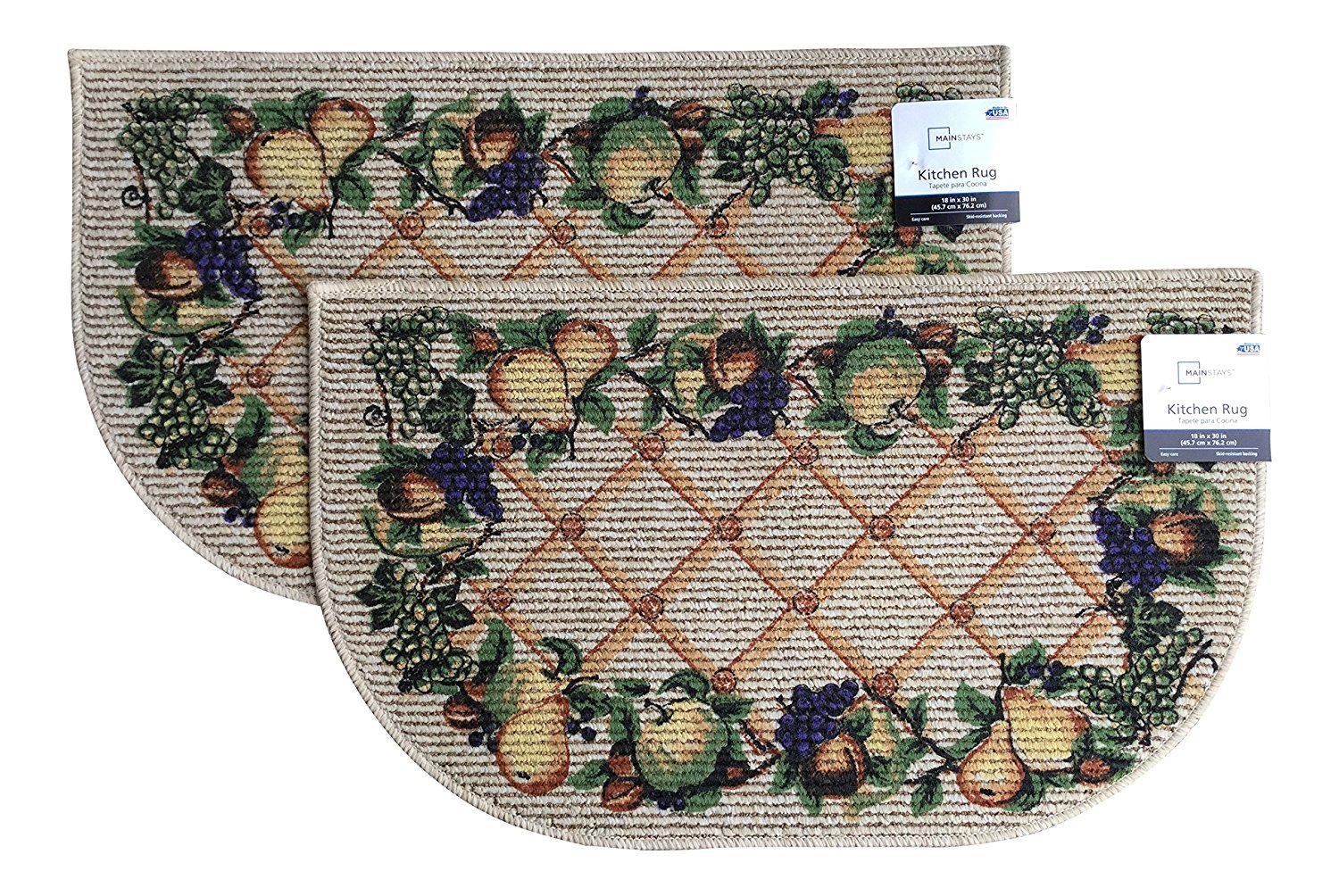 Fruit Kitchen Rugs 18 x 30 inches Set of 2