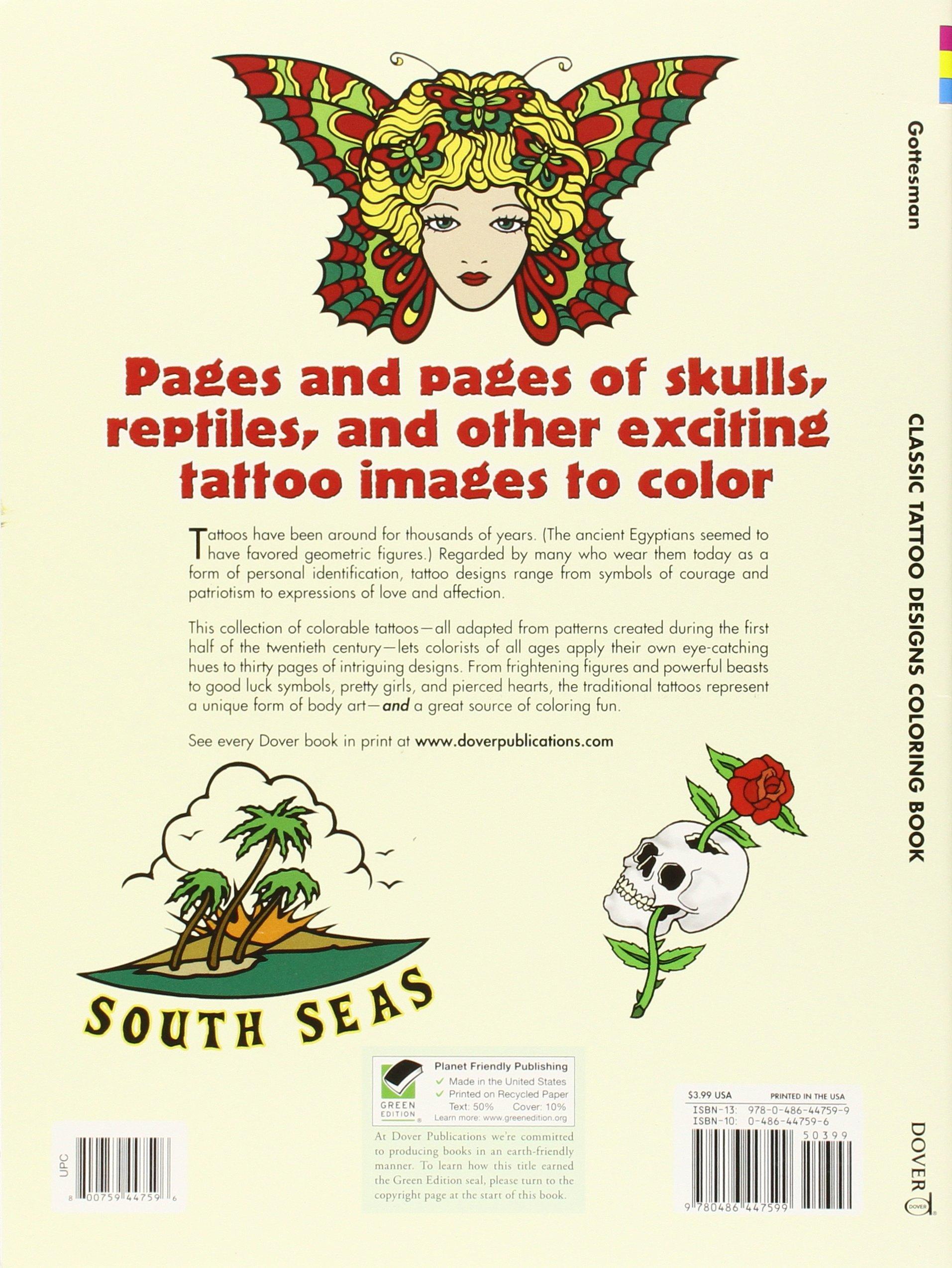 18f0acb9d Classic Tattoo Designs Coloring Book (Dover Design Coloring Books): Eric  Gottesman: 9780486447599: Amazon.com: Books