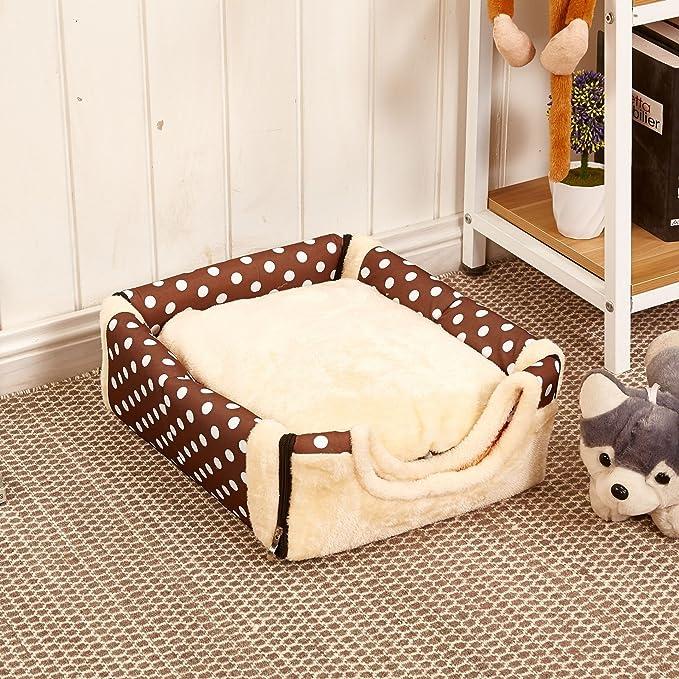 Muzyo Sofá multifuncional para casa de perro con alfombrilla plegable para mascota, cama de gato, casa para perros pequeños, medianos, bolsa de viaje para ...