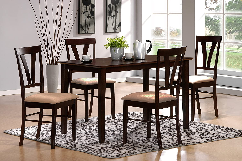 Amazon.com - 5pc Tuscan Dining Set, Espresso - Table & Chair Sets
