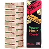 Power Hour Tower Drinking Game – Hilarious, Entertaining, & Outrageous Adult Party Game – Funny Novelty Gift
