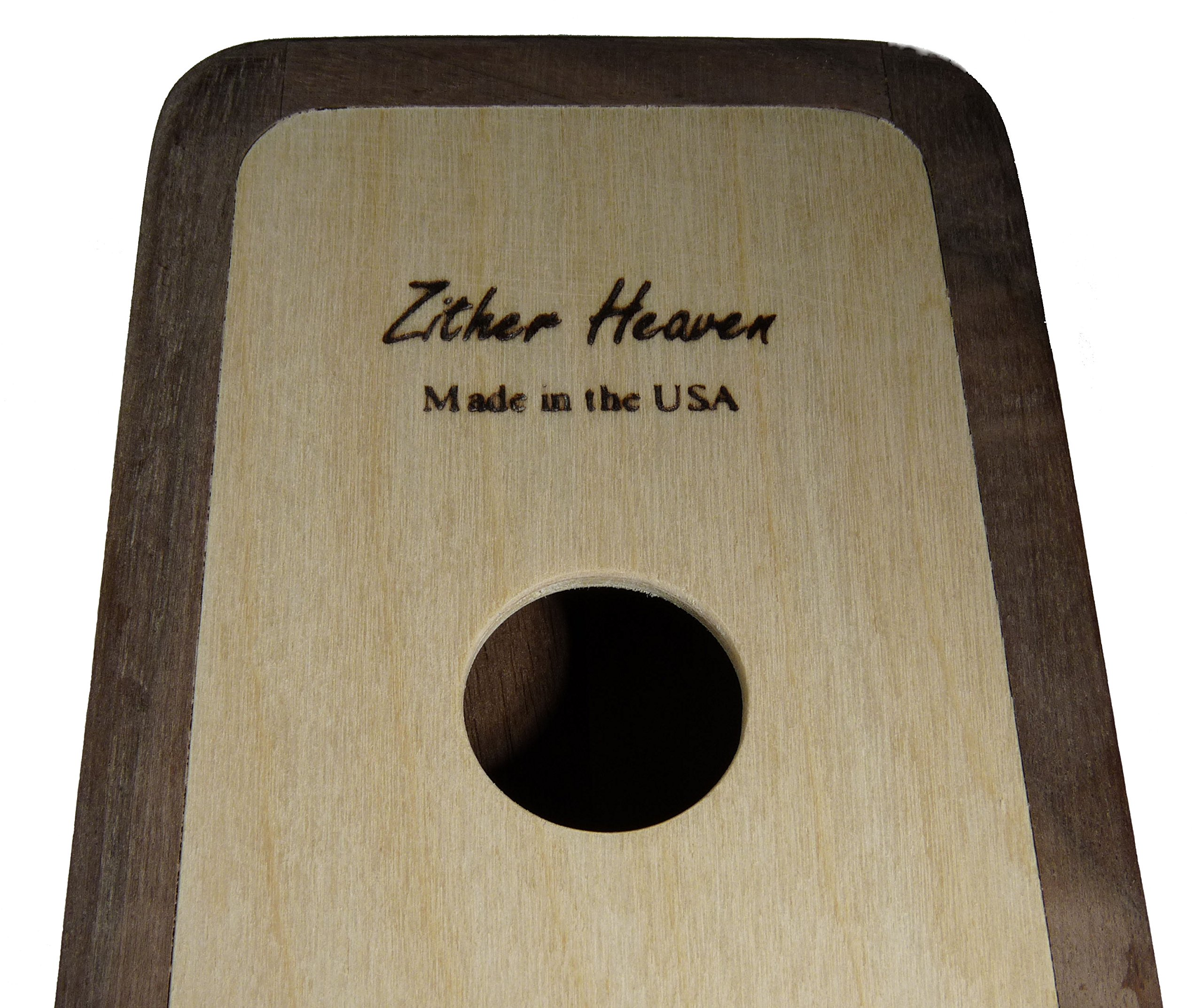 Zither Heaven Artisan Pentatonic 8 Note Black Walnut w/Cherry top Thumb Piano made in the USA by Zither Heaven (Image #6)