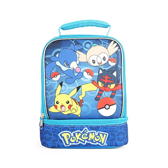 Pokemon Holographic Dual Compartment Blue Insulated Lunch Bag  Amazon.co.uk   Clothing dd7269e4d7971
