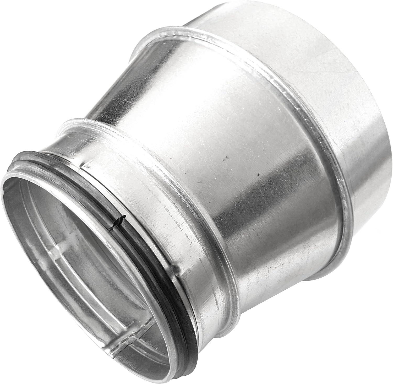 DN 180 // DN 100 Wickelfalzrohr Reduzierung Muffe DN 80 100 125 150 160 180 200 250 mm auf Nippel mit Doppellippendichtung