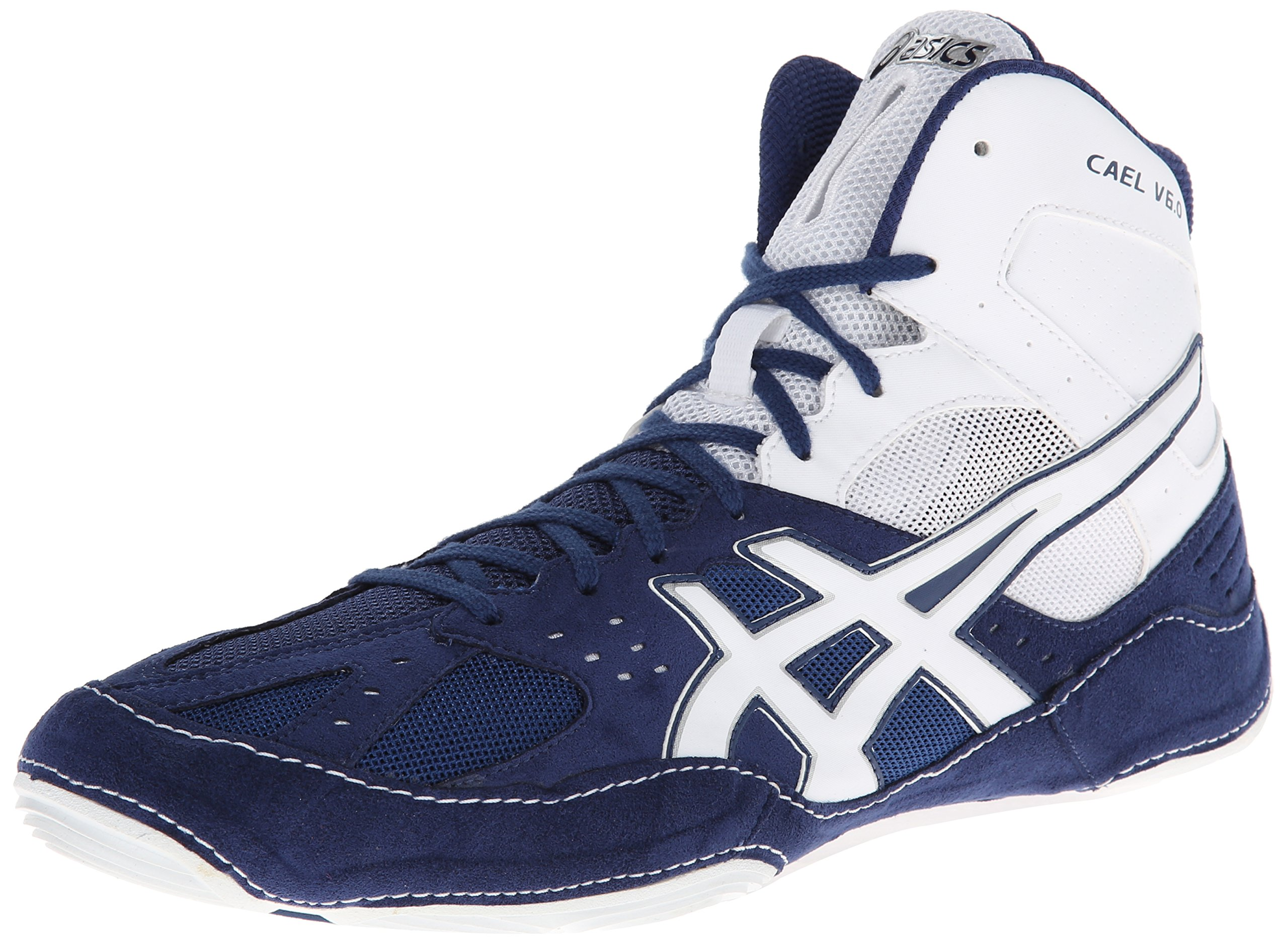 Asics Men's Cael V6.0 Wrestling Shoe,Navy/White,11 M US by ASICS