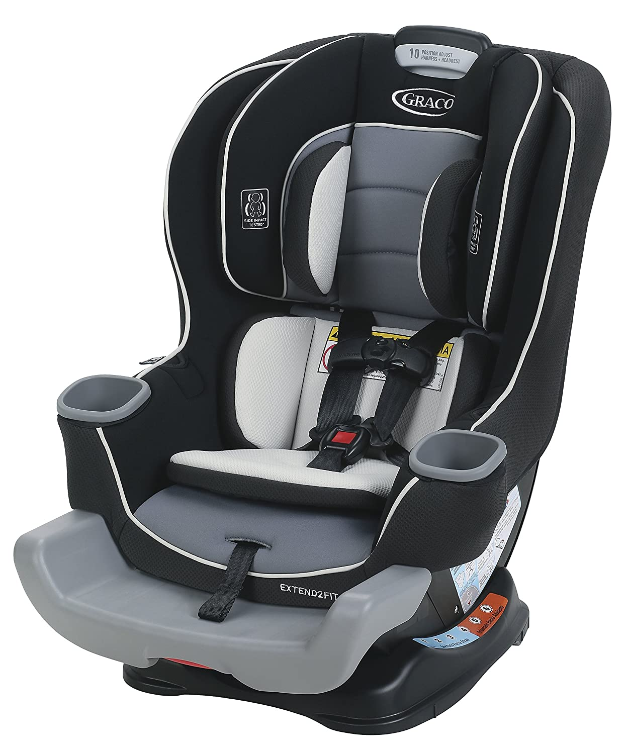 amazon com graco extend2fit convertible car seat gotham one size