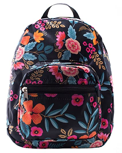 77de454d5bdd Amazon.com  Mini Backpack - Floral Print - Blue  eComHD