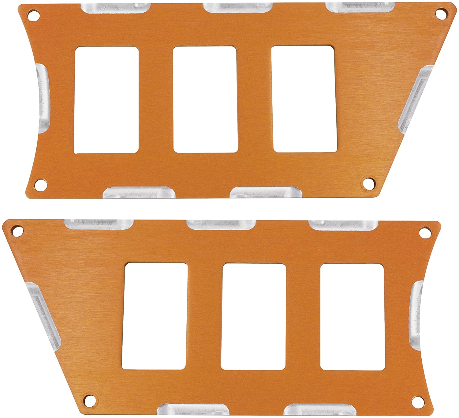 Modquad Orange Rocker Switch Panels for 6 Switches Polaris RZR XP 1000 / Turbo TRTC2617