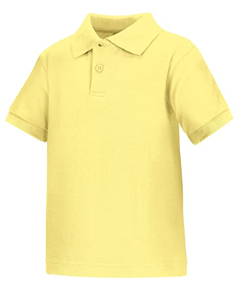 7b7a2c521 Amazon.com: Classroom School Uniforms Kids Toddler Unisex Short Sleeve  Interlock Polo, Yellow, 4T: School Uniform Polo Shirts: Clothing
