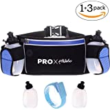 Premium Running Hydration Belt with 2 No-Cost Bottles and LED Lighted Armband plus Waist Bag in the Best Value Bundle Available. Securely Holds iPhone 7, 8, and X Waterproof Pocket, Bounce Free