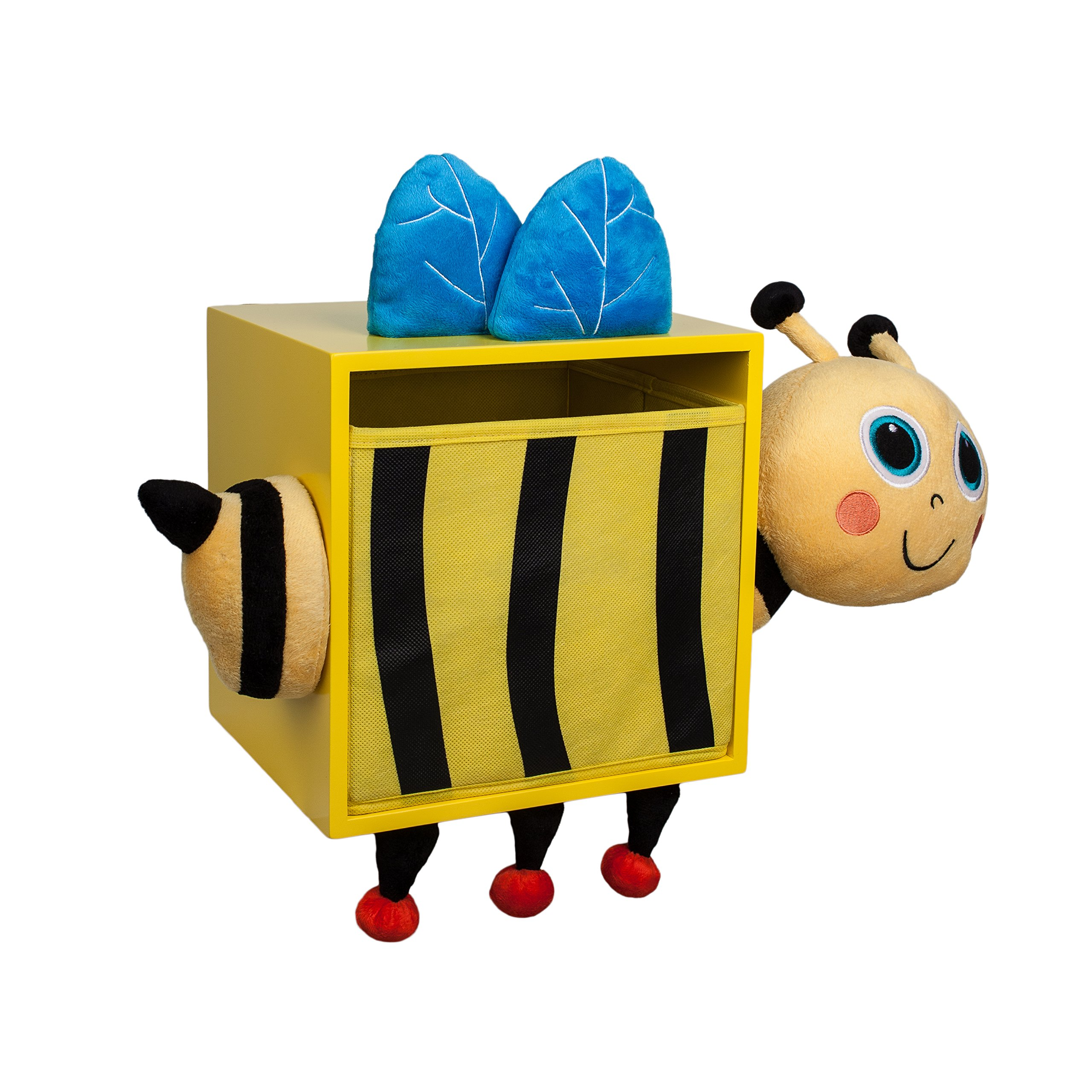 Danya B Plush Bee Kids Wall Storage Bin