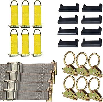 8 Pieces E-Track AccessoriesIncludes... DC Cargo Mall E Track Tie-Down Kit