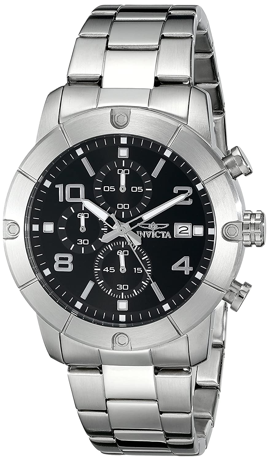 Amazon.com: Invicta Mens 17762 Specialty Analog Display Japanese Quartz Silver Watch: Invicta: Watches