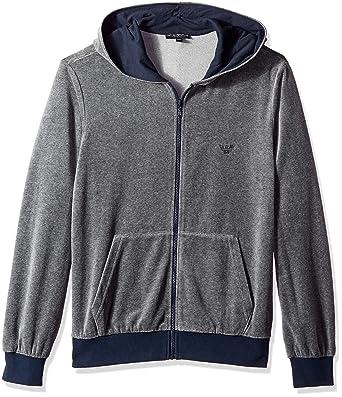 6c9081e19c1 Emporio Armani Men s Chenille Zip Up Sweater at Amazon Men s ...