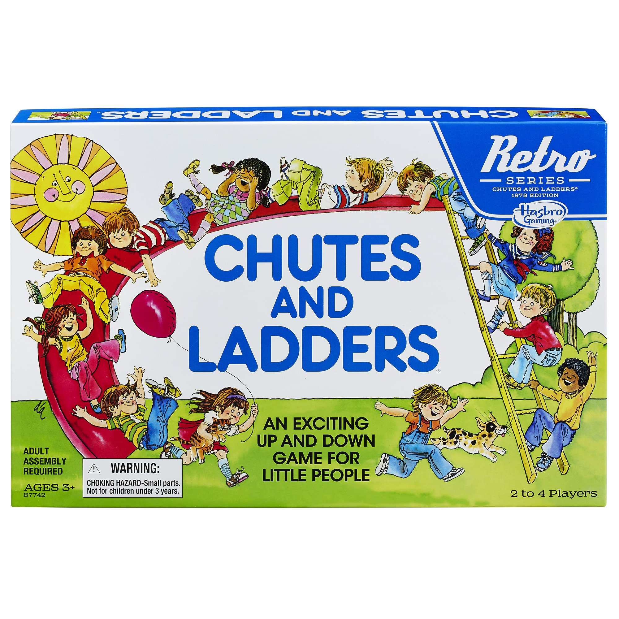 Hasbro Chutes and Ladders Game: Retro Series 1978 Edition