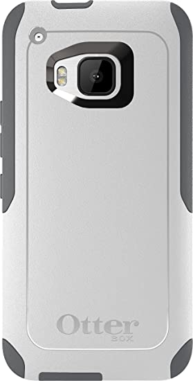 buy online 8e2ed f5b60 OtterBox Commuter Case for HTC One M9 - Retail Packaging - Glacier  (White/Gunmetal Grey)