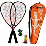 Speedminton Set S60 mixte adulte Orange/Noir Taille Unique