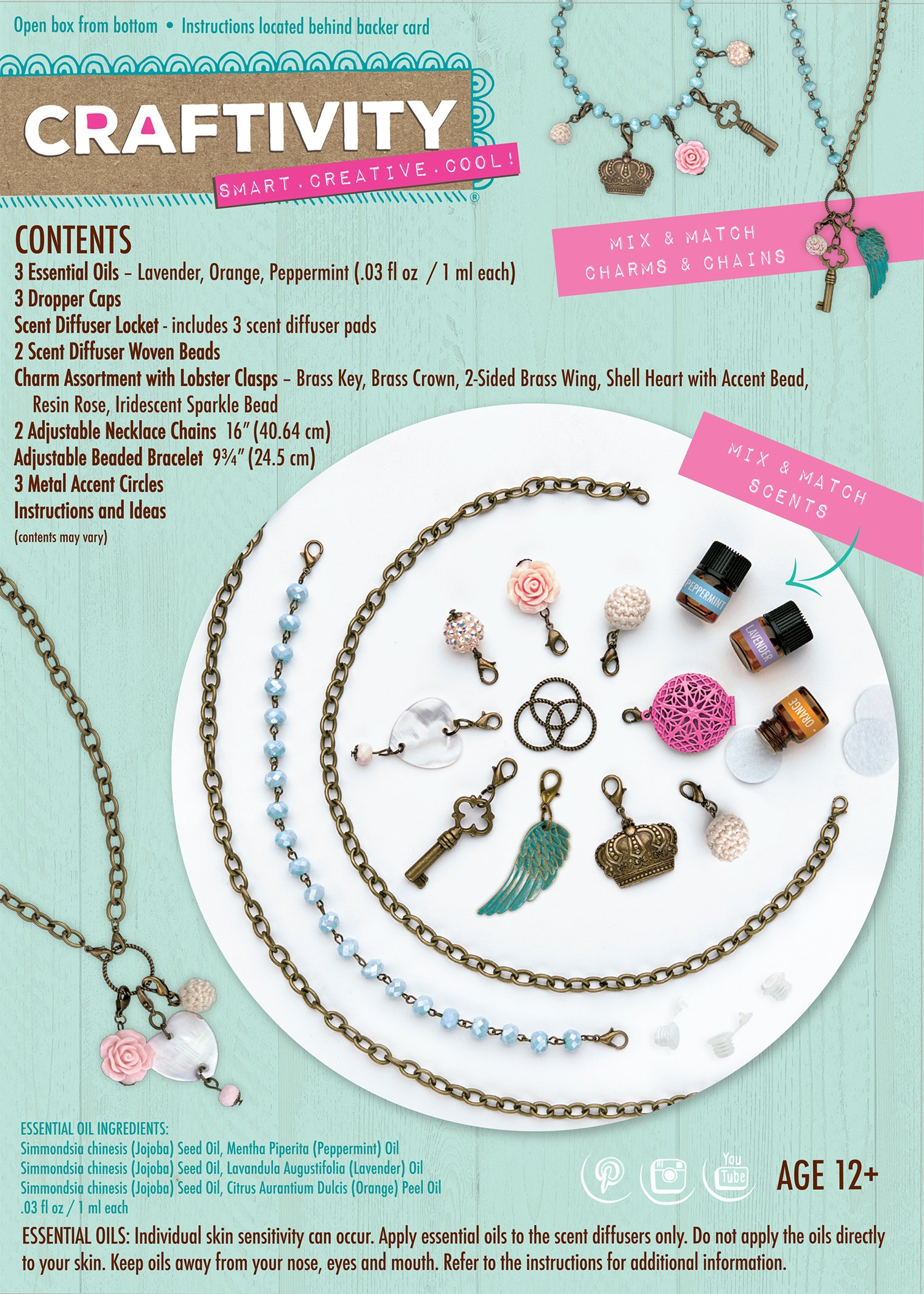 CRAFTIVITY AromaJewelry Lovely Lockets - Essential Oil Jewelry Making Kit by CRAFTIVITY (Image #2)