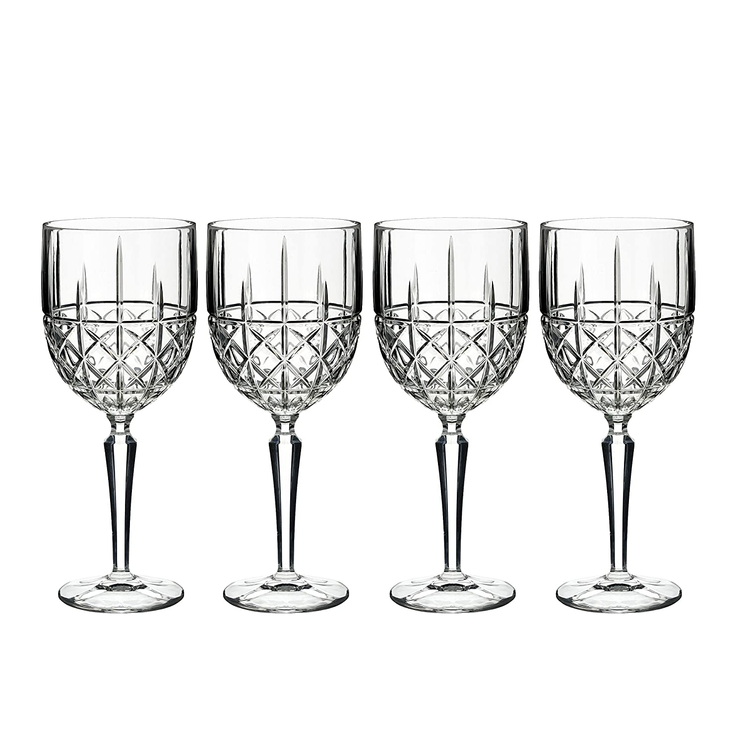 Amazon marquis by waterford brady flute set of 4 clear amazon marquis by waterford brady flute set of 4 clear goblets chalices reviewsmspy