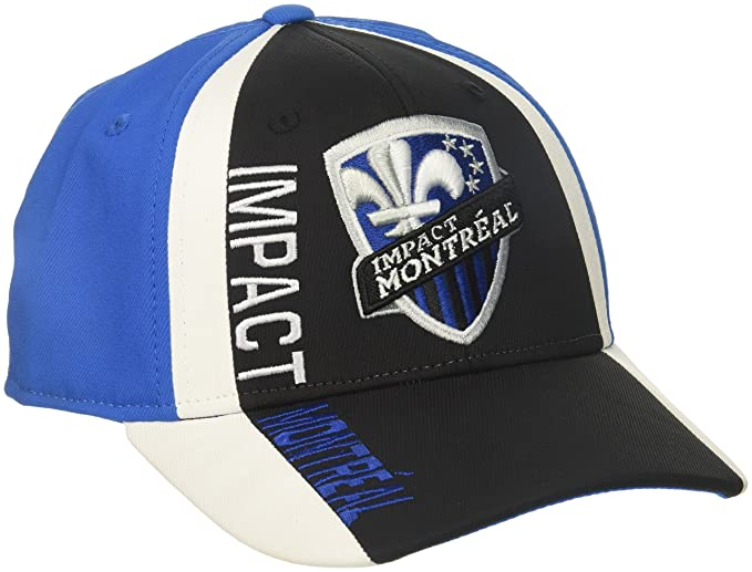 the latest 93559 a95d0 adidas MLS Montreal Impact Adult Men Cut  N Sew Curved Visor Flex, Small