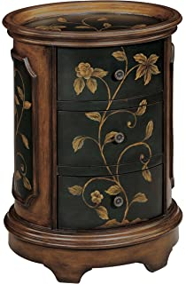 Stein World Furniture Ophelia Accent Table, Brown, Black