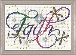 "Design Works Crafts Inc. Faith, 5'' x 7' Cross Stitch Kit, 5""x7"" 14 Count"