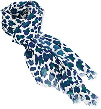 548d7c1da38 Kookai Women Foulard imprimé léopard Animal print Scarf - Off-white - Écru  (Meringue) - One size  Amazon.co.uk  Clothing