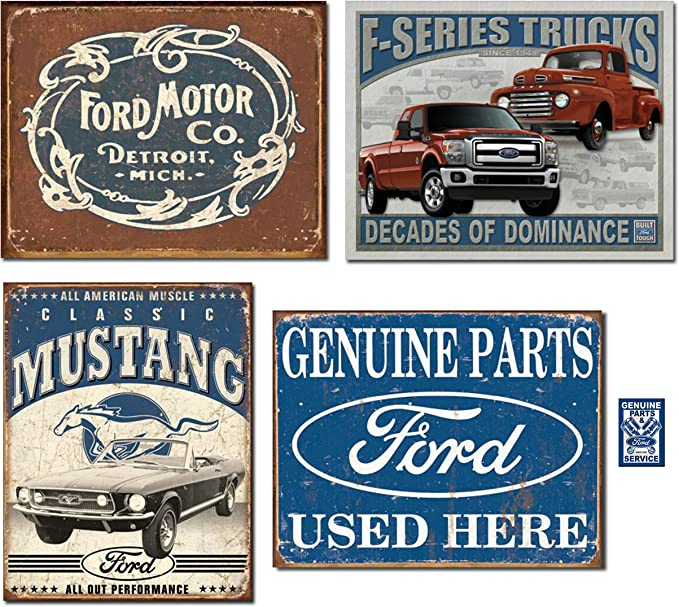 Build Ford Tough Truck Square tin sign 12in x 12in