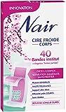 Nair - 40 Bandes de Cire Froide Corps - Séparation Immédiate Sans Frotter - Fleur de Cerisier & Huile de Riz
