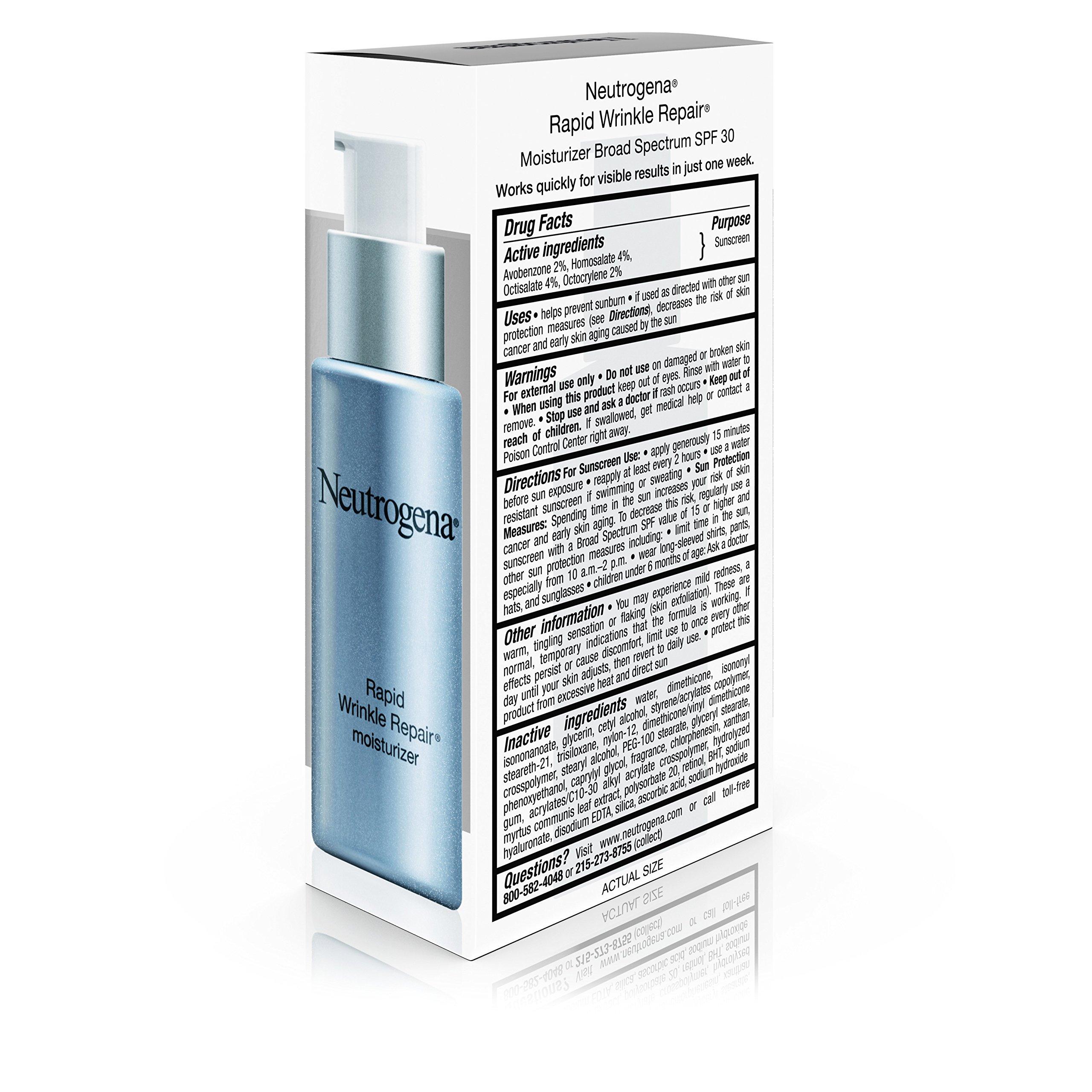 Neutrogena Rapid Wrinkle Repair Anti-Wrinkle Retinol Daily Face Moisturizer, with SPF 30 Sunscreen, 1 fl. Oz by Neutrogena (Image #9)