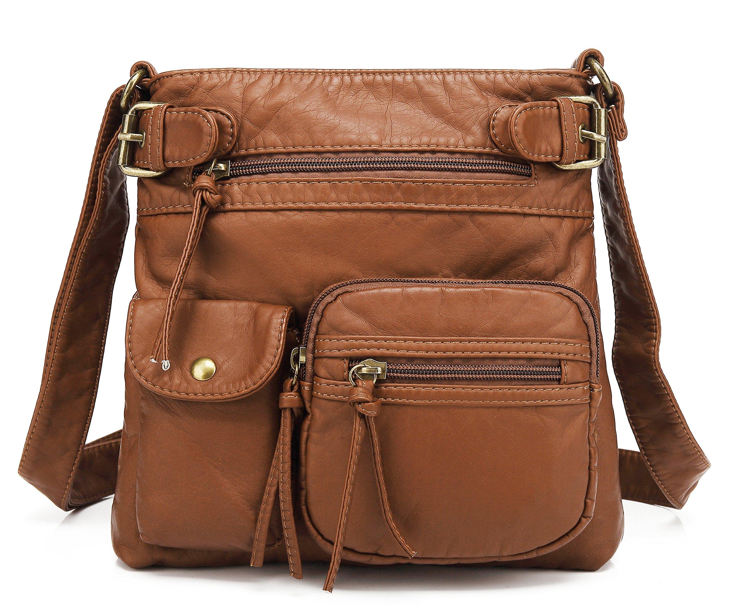 Scarleton Accent Top Belt Crossbody Bag H183304 - Cognac