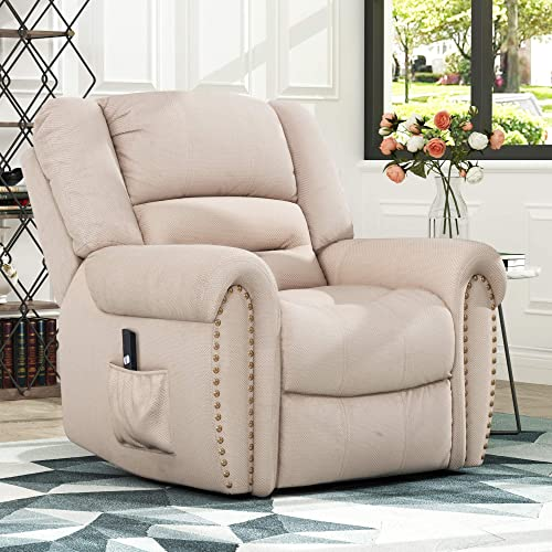 Power Lift Chair Soft Fabric Upholstery Recliner Living Room Sofa Chair