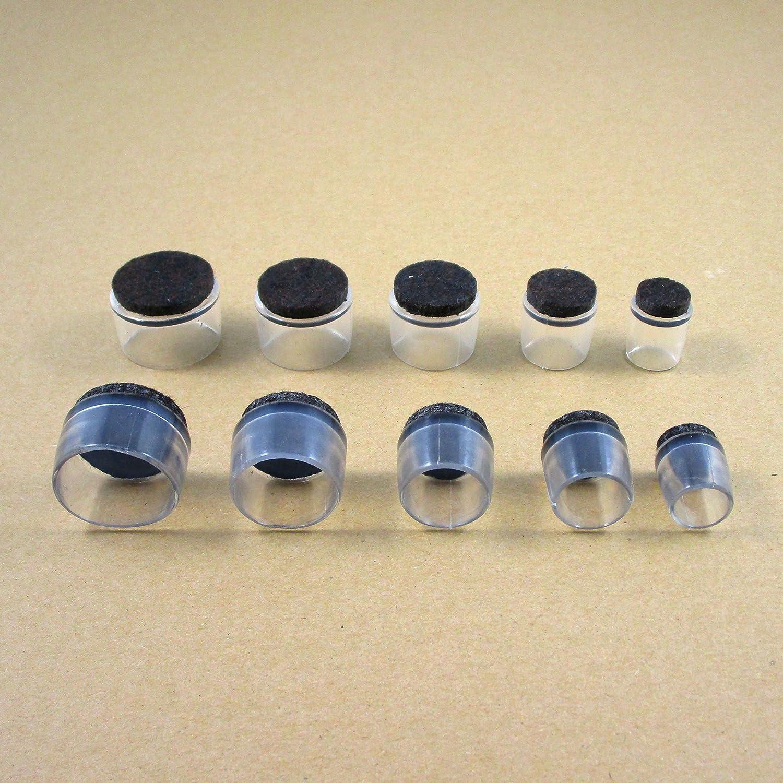 16 mm avec semelle en feutre anti-bruit et anti-rayure pour pied de chaise EVF916-FBA Ajile/® Lot de 16 pi/èces Embout enveloppant pour tube diam