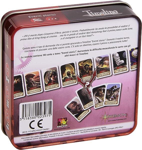 Asmodee- Timeline, Multicolor, 8261: Amazon.es: Juguetes y juegos