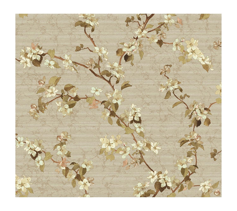 Light Khaki York Wallcoverings DC1302SMP Iridescent Apple Blossom 8 x 10 Wallpaper Memo Sample