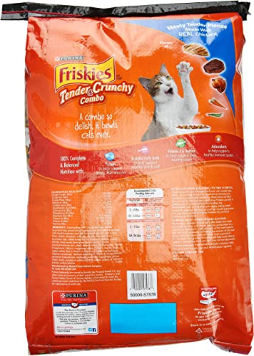 Friskies Dry Cat Food, Tender and Crunchy Combo, 16 Lb Bag