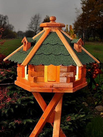 Riesiges XXL Vogelhaus Futterhaus Vogelfutterhaus Vogelhäuschen Holz 67x45 cm