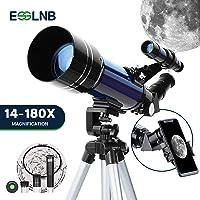 ESSLNB Telescopios Astronomicos 70mm Telescopio Niños con Adaptador