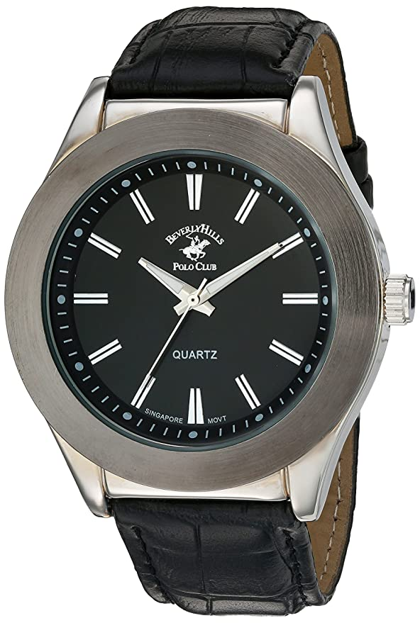 Amazon.com: US Beverly Hills Polo Club Mens Quartz Metal Watch, Color:Black (Model: 58768): Watches