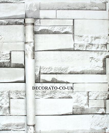 Brick Effect Fablon Sticky Back Plastic Slate Stone Vinyl Durable Self Adhesive