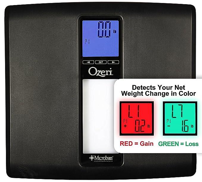 Báscula Digital de Baño WeightMaster II 200 kg de Ozeri con IMC y Detección de Cambio de Peso (Negro): Amazon.es: Salud y cuidado personal