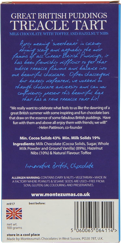 Montezuma S Treacle Tart Pudding Bar 100 G Pack Of 6 Amazon Co Uk Grocery