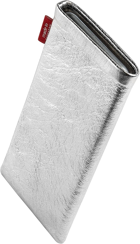 H/ülle mit Reinigungsfunktion Made in Germany fitBAG Beat Royalblau Handytasche Tasche aus Echtleder Nappa mit Microfaserinnenfutter f/ür Essential Phone