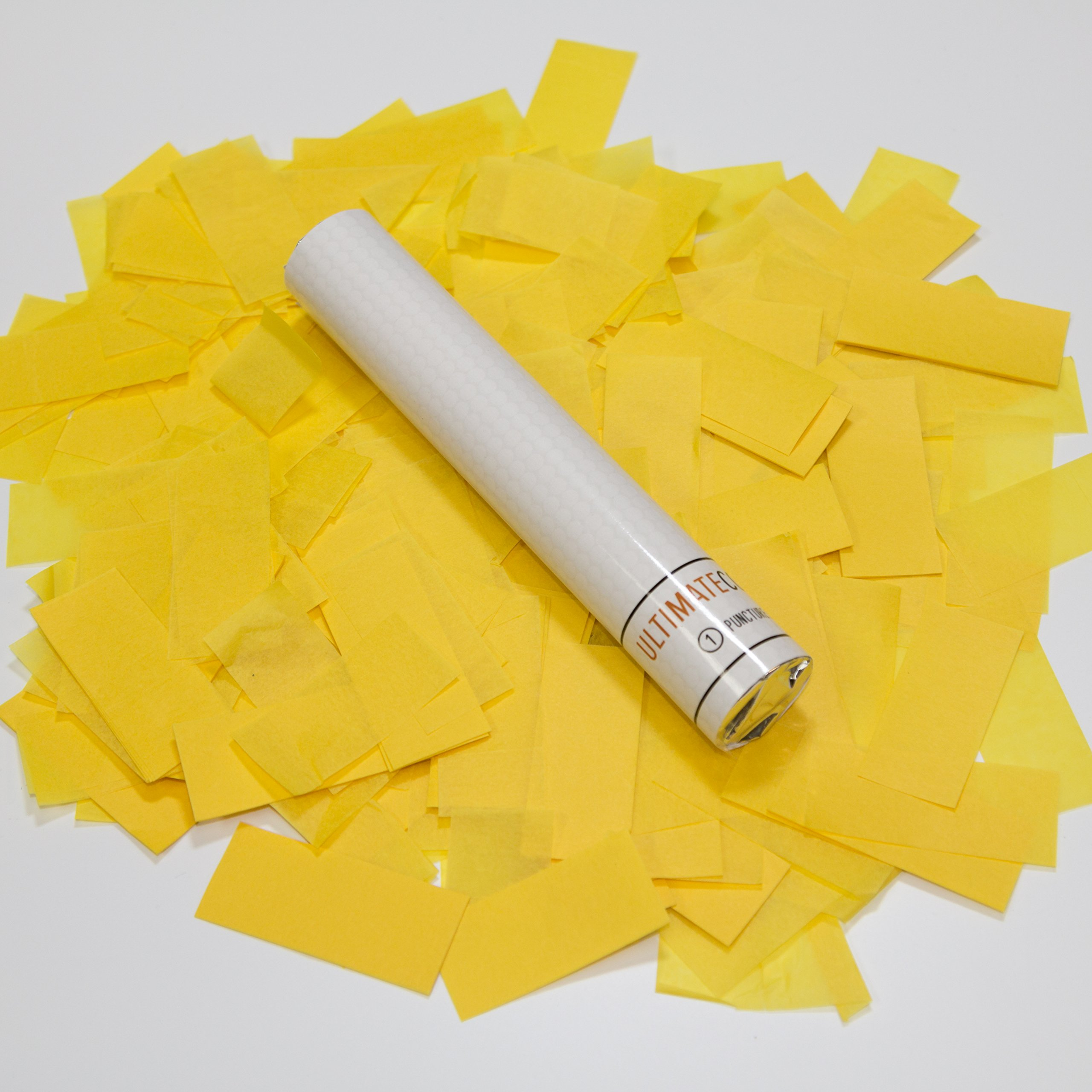 9 pk 6'' Yellow Tissue Confetti Wand Flick Stick