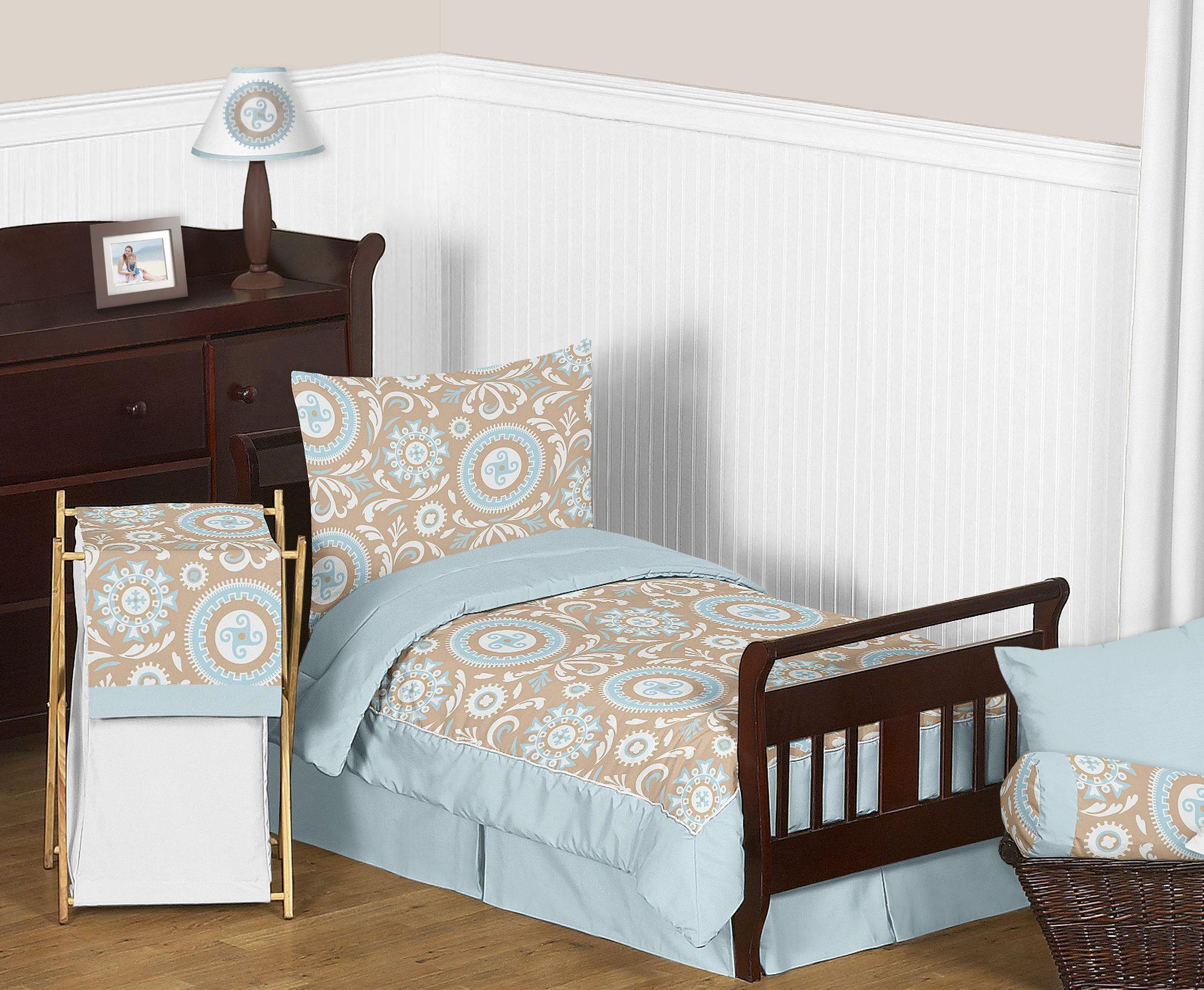 Sweet Jojo Designs Fitted Crib Sheet for Hayden Baby/Toddler Bedding - Blue