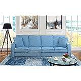 Amazoncom Divano Roma Furniture Modern 79 Inch Two Tone Colorful