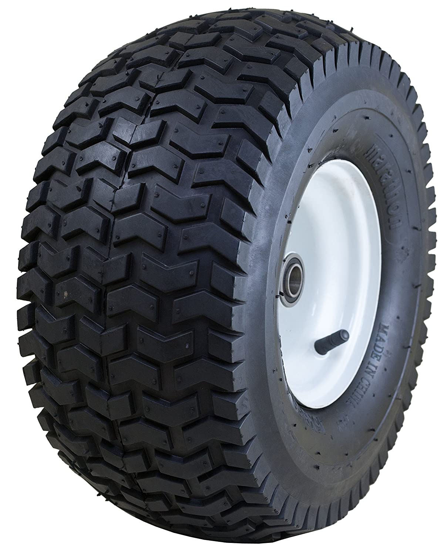 "Marathon 15x6.50-6"" Pneumatic (Air Filled) Tire on Wheel, 3"" Hub, 3/4"" Bushing"